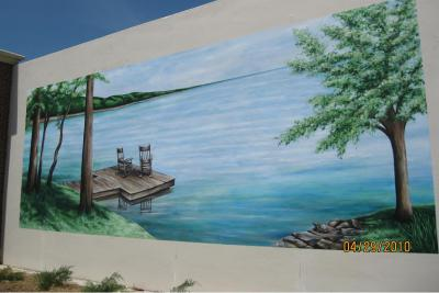 Mural - Augusta Water Works, River Island Dock